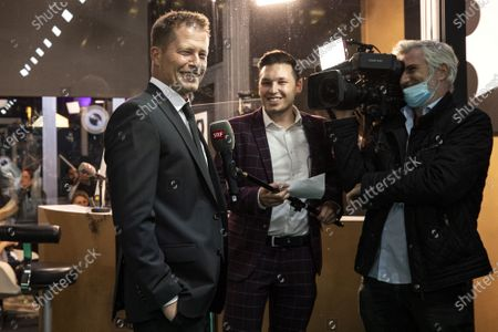 Stock Picture of Til Schweiger (L) poses on the Green Carpet during the 16th Zurich Film Festival (ZFF) in Zurich, Switzerland, 02 October 2020. The festival runs from 24 September to 04 October 2020.