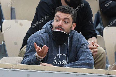 Kev Adams reacts during the match between Stan Wawrinka and Hugo Gaston