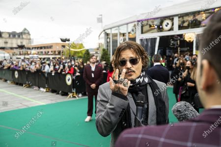 Stock Image of Johnny Depp poses on the Green Carpet during the 16th Zurich Film Festival (ZFF) in Zurich, Switzerland, Friday, October 02, 2020. The festival runs from 24 September to 04 October 2020.