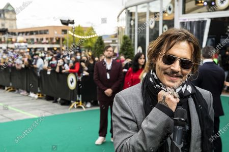 Johnny Depp poses on the Green Carpet during the 16th Zurich Film Festival (ZFF) in Zurich, Switzerland, Friday, October 02, 2020. The festival runs from 24 September to 04 October 2020.
