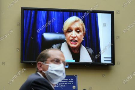 United States Representative Carolyn Maloney (Democrat of New York), speaks as US Secretary of Health and Human Services Alex Azar testifies to the US House Select Subcommittee on the Coronavirus Crisis, on Capitol Hill in Washington,.