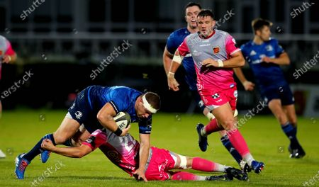 Stock Photo of Leinster vs Dragons. Leinster's Sean Cronin and Josh Lewis of Dragons