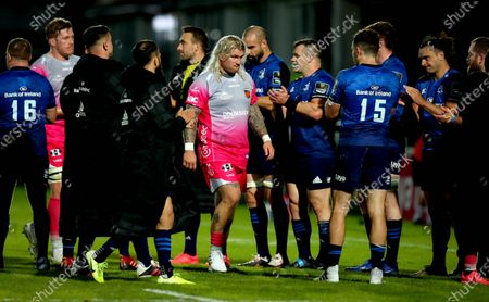 Leinster vs Dragons. Dragons' Richard Hibbard dejected after the game