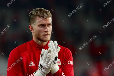 Stock Photo of Union's new goalkeeper Loris Karius warms up for the German Bundesliga soccer match between FC Union Berlin and FSV Mainz 05 in Berlin, Germany, 02 October 2020.