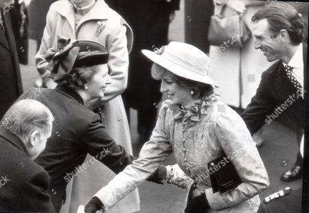 Francis Pym, Margaret Thatcher, Princess Diana and Captain Mark Phillips
