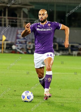 Fiorentina's Sofyan Amrabat in action during the Italian Serie A soccer match between ACF Fiorentina and UC Sampdoria at the Artemio Franchi stadium in Florence, Italy, 02 October 2020.
