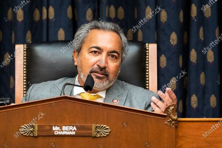 """Stock Image of U.S. Representative Ami Bera (D-CA) speaks at a joint committee hearing by the House Foreign Affairs Committee's Subcommittee on Asia, the Pacific and Nonproliferation and the House Armed Services Committee's Subcommittee on Intelligence and Emerging Threats and Capabilities on """"Strengthening Biological Security: Traditional Threats and Emerging Challenges""""."""