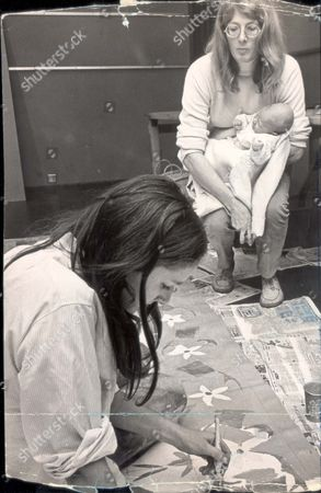 Stock Photo of Vanessa Redgrave Went Along To The Royal College Of Art To See The Final Touches Being Put To A Painted Carpet. And Carlo Gabreil Sparanero Went Along Too....actress