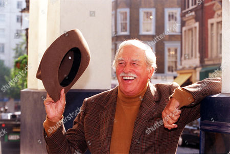 79 Year Old American Actor Singer Howard Keel. On The Steps Of The Theatre Royal.