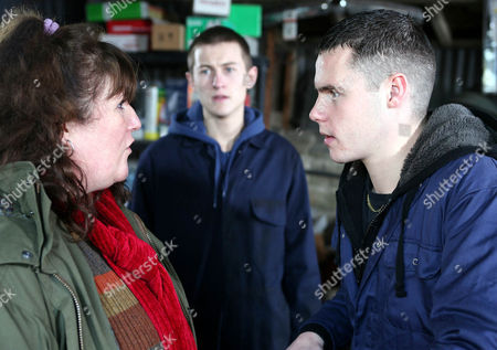 As Daz Eden's [Luke Tittensor] Prank Backfires, Aaron Livesy [Danny Miller] Crashes the Car and Gets Told Off by Lisa Dingle [Jane Cox].