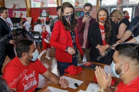 New Zealand Prime Minister Jacinda Ardern visits a NZ Labour Party South Auckland Get Out The Vote event at Sir Edmund Hillary Collegiate, in Auckland, New Zealand, 03 October 2020. The 2020 New Zealand general election will be held on 17 october 2020.