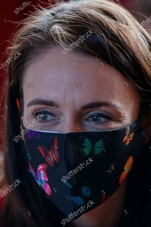 Stock Picture of New Zealand Prime Minister Jacinda Ardern visits a NZ Labour Party South Auckland Get Out The Vote event at Sir Edmund Hillary Collegiate, in Auckland, New Zealand, 03 October 2020. The 2020 New Zealand general election will be held on 17 october 2020.