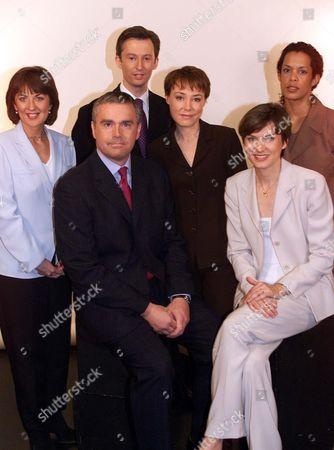 Denise Mahoney, Huw Edwards, Fergus Walsh, Sian Williams, Fiona Bruce and Aminatta Forna