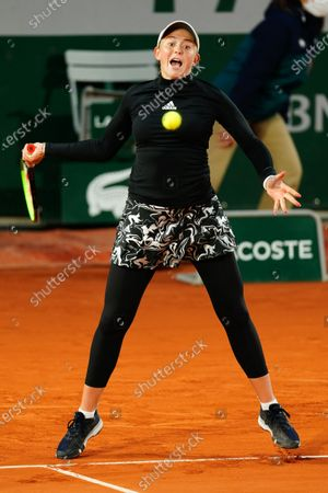 Jelena Ostapenko during her Women's Singles Round of 32 match