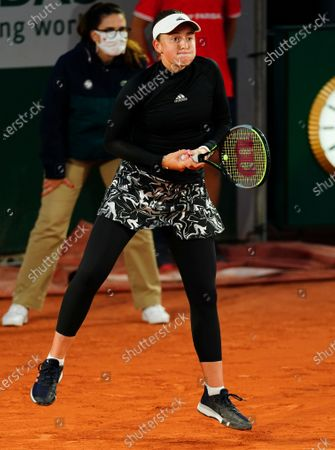 Jelena Ostapenko in third round action
