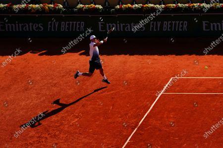Roberto Bautista Agut in third round action