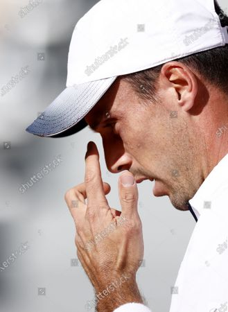 Roberto Bautista Agut of Spain during his third round match against Pablo Carreno Busta of Spain at the French Open tennis tournament at Roland Garros in Paris, France, 03 October 2020.