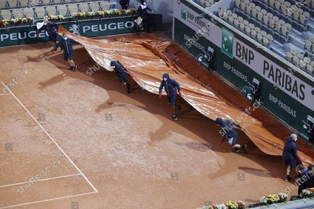Editorial photo of French Open tennis tournament at Roland Garros, Paris, France - 03 Oct 2020