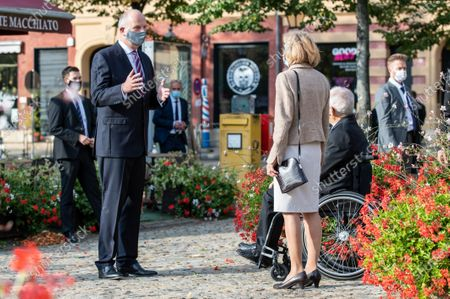 Dietmar Woidke, President of the Federal Council, Wolfgang Schaeuble, President of German Bundestag, with his wife Ingeborg Schaeuble attend an ecumenical church service at Saint Peter and Paul church during German Unity Day in Potsdam, Germany, 03 October 2020.