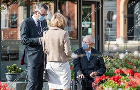 Wolfgang Schaeuble, President of German Bundestag, with his wife Ingeborg Schaeuble attend an ecumenical church service at Saint Peter and Paul church during German Unity Day in Potsdam, Germany, 03 October 2020.