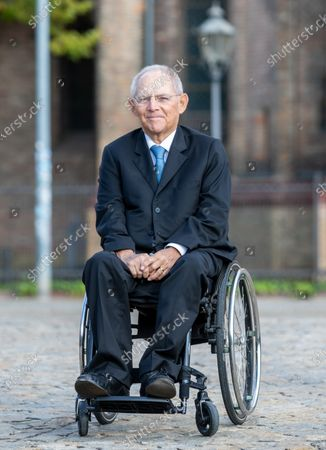 Wolfgang Schaeuble, President of German Bundestag, arrives for an ecumenical church service at Saint Peter and Paul church during German Unity Day in Potsdam, Germany, 03 October 2020.