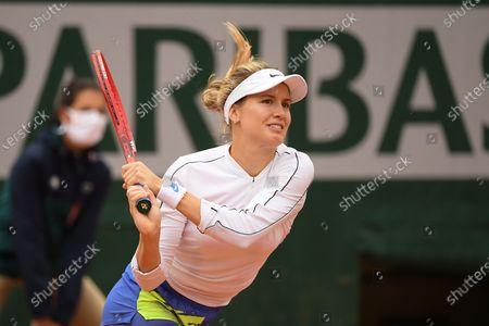 Eugenie Bouchard at Roland Garros stadium