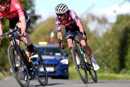 Stock Picture of Darnell Moore of Vitus Pro Cycling p/b Brother UK and Ben Healy of Trinity Racing in early breakaway in the mens senior race