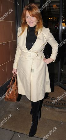 Editorial image of Sarah Ferguson and Giuseppe Cipriani leaving the Cipriani restaurant, London, Britain - 14 Jan 2010