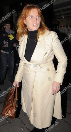 Editorial picture of Sarah Ferguson and Giuseppe Cipriani leaving the Cipriani restaurant, London, Britain - 14 Jan 2010