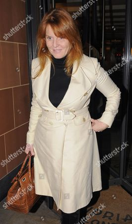 Editorial photo of Sarah Ferguson and Giuseppe Cipriani leaving the Cipriani restaurant, London, Britain - 14 Jan 2010