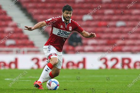 Middlesbrough midfielder Sam Morsy (5) during the EFL Sky Bet Championship match between Middlesbrough and Barnsley at the Riverside Stadium, Middlesbrough