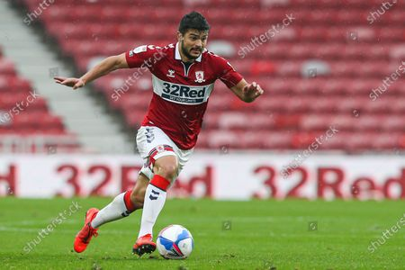 Stock Picture of Middlesbrough midfielder Sam Morsy (5) during the EFL Sky Bet Championship match between Middlesbrough and Barnsley at the Riverside Stadium, Middlesbrough