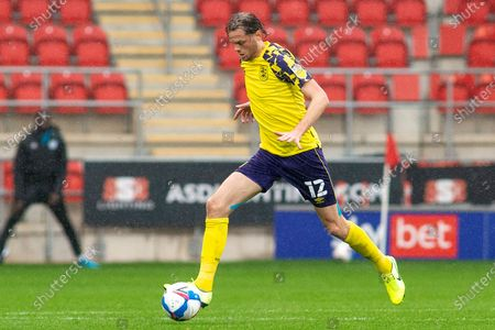 Richard Stearman of Huddersfield Town during the EFL Sky Bet Championship match between Rotherham United and Huddersfield Town at the AESSEAL New York Stadium, Rotherham
