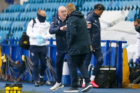QPR FC Manager Mark Warburton meets with Sheffield Wednesday FC Manager Garry Monk and shakes hands before the EFL Sky Bet Championship match between Sheffield Wednesday and Queens Park Rangers at Hillsborough, Sheffield
