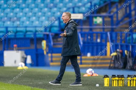 Sheffield Wednesday FC Manager Garry Monk gestures towards his players during the EFL Sky Bet Championship match between Sheffield Wednesday and Queens Park Rangers at Hillsborough, Sheffield