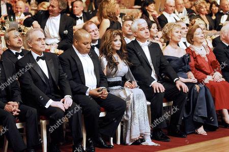 Jose Carreras, guest, La Toya Jackson, Hans-Joachim Frey, Helma Orosz, Ingrid Biedenkopf