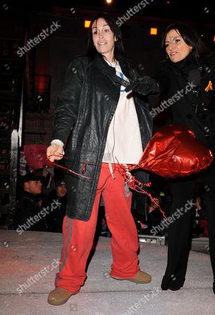 Heidi Fleiss with Davina McCall