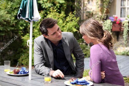 Debbie Dingle [Charley Webb] Tells Michael [Jamie Belman] the Truth About Her Previous Relationship.  She Gets a Pleasant Surprise When He Still Asks if She's Free Tomorrow.