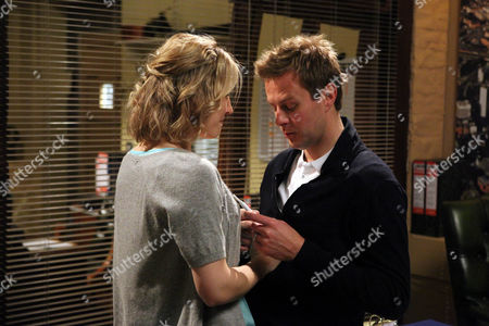 Carl King [Tom Lister] Tries to Hide His Misgivings When Lexi Nicholls [Sally Oliver] Tells Him She's Pregnant.