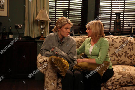 Lexi Nicholls [Sally Oliver] Has Gone Straight into Work After Leaving the Hospital - She Breaks in Tears and Nicola De Souza [Nicola Wheler] Comforts Her.