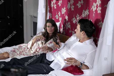 Debbie Dingle [Charley Webb] Gets Jealous When She Hears Michael [Jamie Belman] on the Phone to His Other Woman.