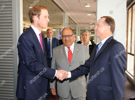 Stock Image of Prince William, Governor General The Honourable Sir Anand Satyanand and Robert Key