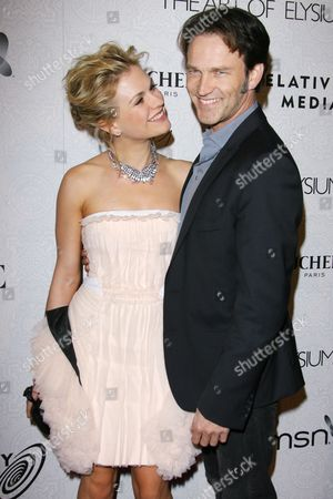 Stock Image of Anna Paquin and Steven Moyer