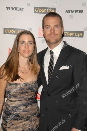 Chris O'Donnell and wife Caroline Fentress