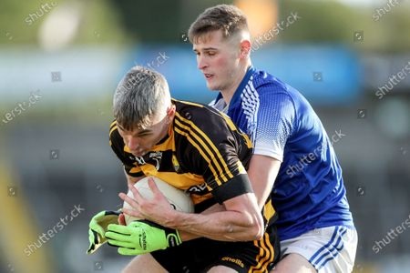 Stock Picture of Crosserlough vs Kingscourt Stars. Crosserlough's Adrian Smith and Cathal McKeown of the Kingscourt Stars