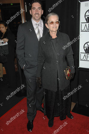 Stock Photo of Genevieve Bujold and son Emmanuel