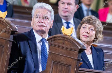 Joachim Gauck, former German President, and Daniela Schadt at Day of German unity - Ecumenical church service in Potsdam