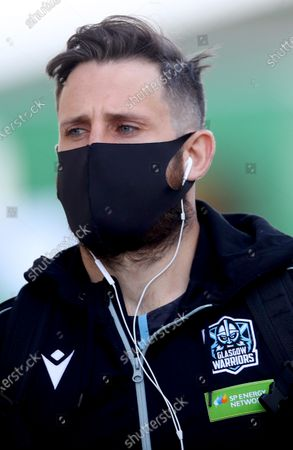 Stock Image of Connacht vs Glasgow Warriors. Glasgow's Tommy Seymour arrives