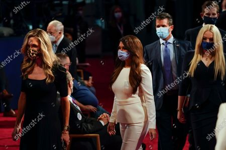 Arriving to take their seats for the first presidential debate from l-r., Lara Trump, Kimberly Guilfoyle, Donald Trump Jr., Tiffany Trump and Eric Trump, at Case Western University and Cleveland Clinic, in Cleveland, Ohio