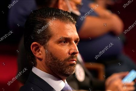 Donald Trump Jr., the son of President Donald Trump, waits for the first presidential debate, at Case Western University and Cleveland Clinic, in Cleveland, Ohio
